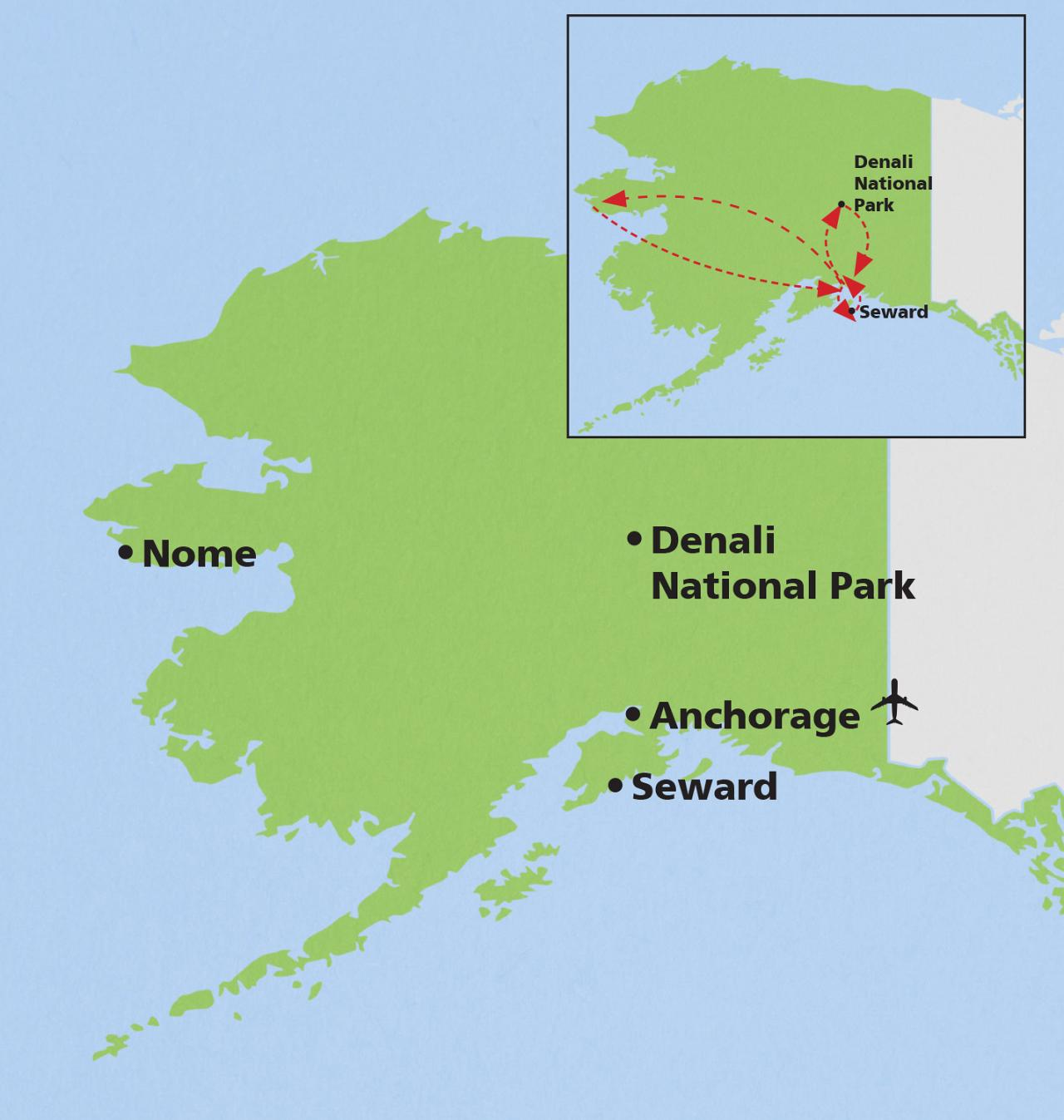 Alaska Birding Wildlife Tour Anchorage Nome Denali Seward