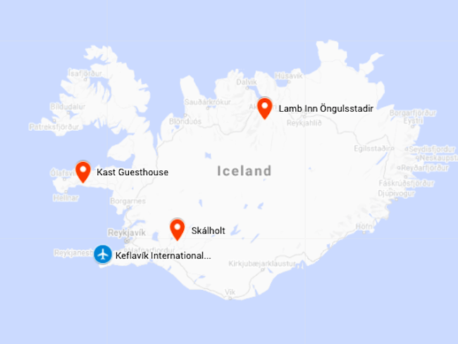 Map for NEW! Iceland Birding & Nature