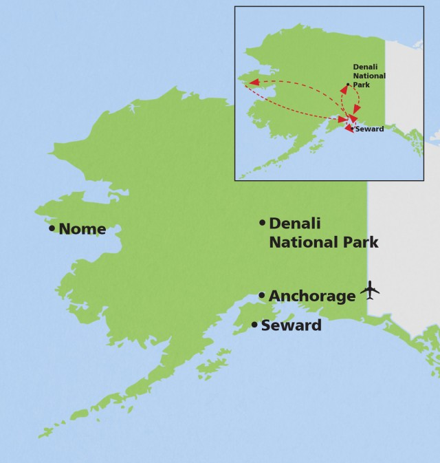 Map for Alaska: Birding & Wildlife