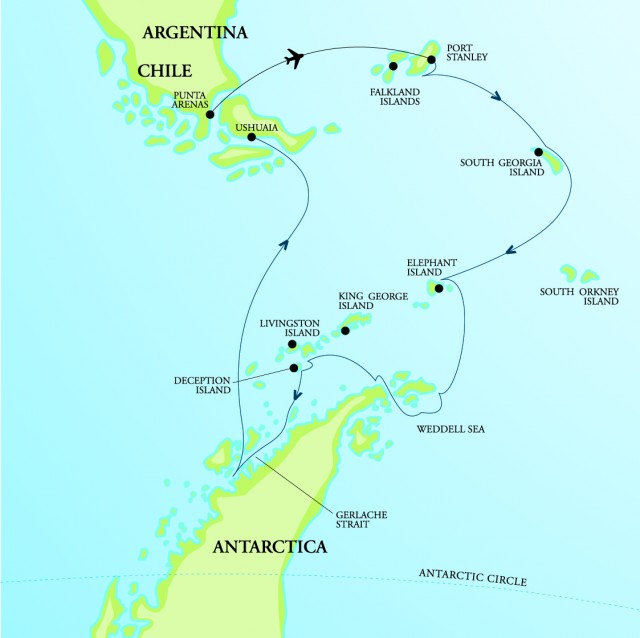 Map for NEW! Antarctica's Mega Colonies