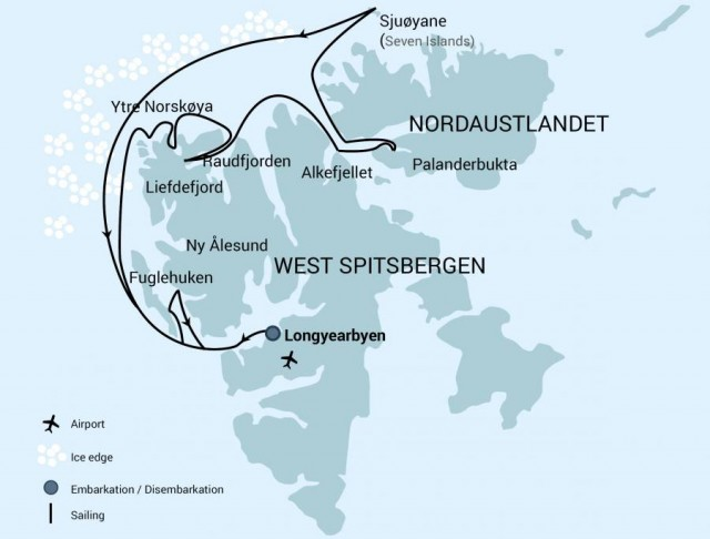 Map for Svalbard: Kingdom of the Polar Bear