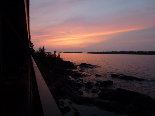 Lake Superior Sunset, Isle Royale, Northwoods Nature Tour, Michigan Nature Tour, Naturalist Journeys
