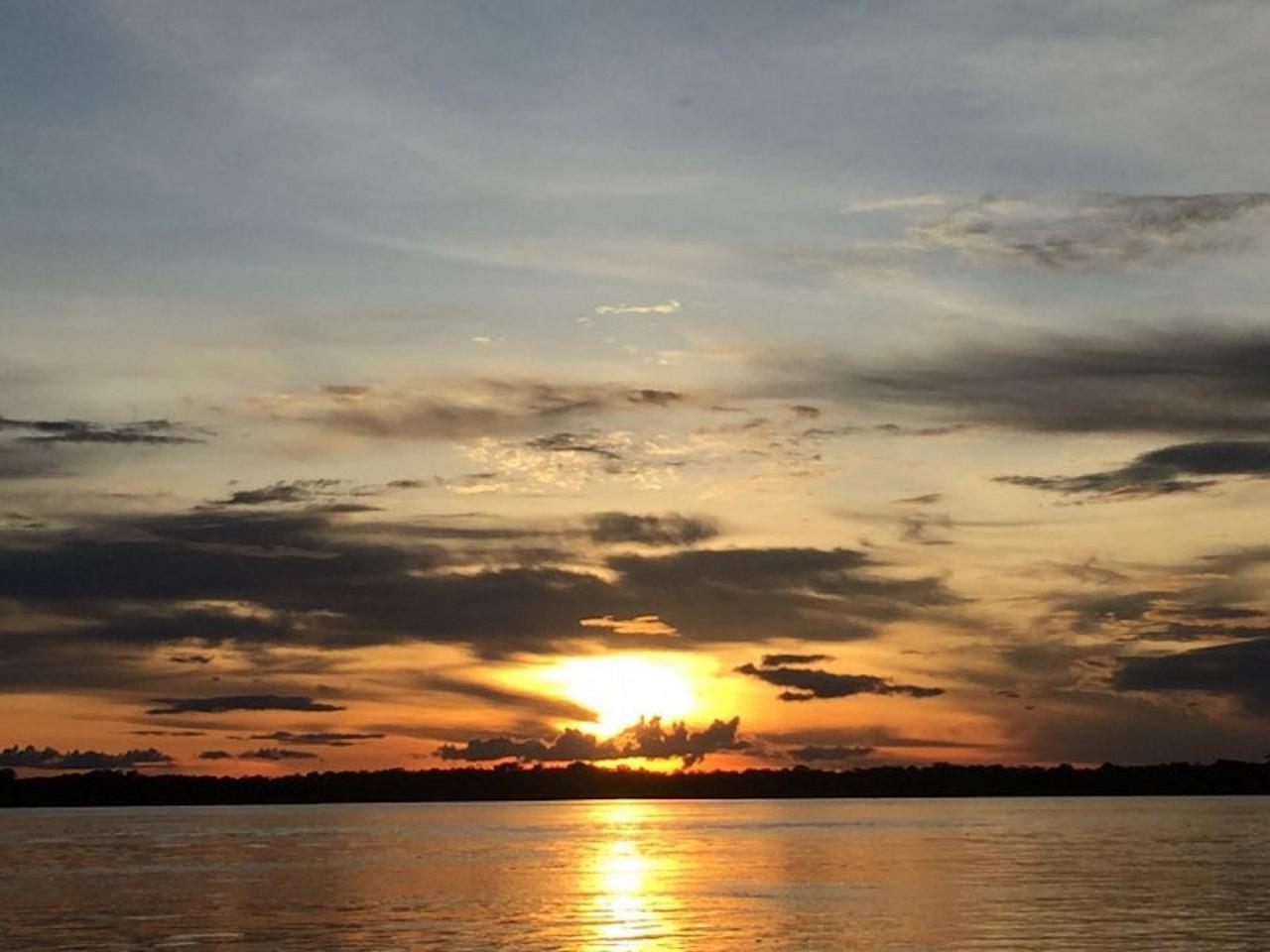 Sunset, Amazon River Cruise, Amazon Basin, Peru, Naturalist Journeys