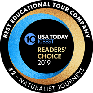 USA Today 10Best Readers' Choice 2019 - Best Educational Tour Company - #2 Naturalist Journeys